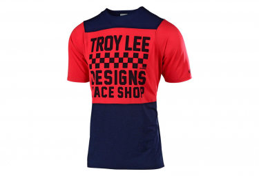 Troy Lee Designs Youth SS Jersey Checkers Red / Navy