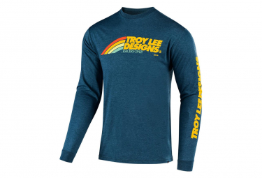 Troy Lee Designs LS Jersey Velo Navy / Yellow