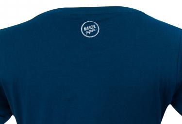 T-Shirt Marcel Pignon Femme I Want To Ride Bleu