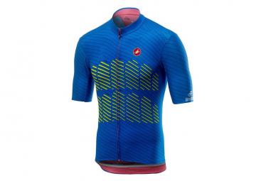 Castelli Short Sleeves Jersey Verona Blue / Yellow