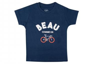 T-Shirt Marcel Pignon Enfant Beau Velo Bleu