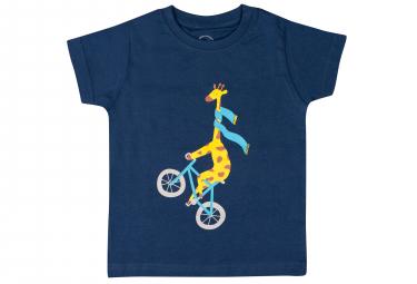 T-Shirt Marcel Pignon Enfant Giraffe Bleu