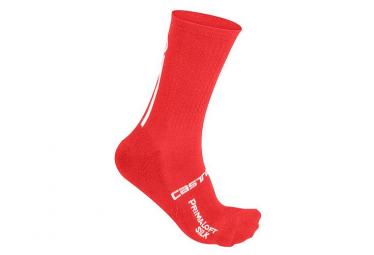 Chaussettes Mi-Hautes Castelli Primaloft 13 Rouge