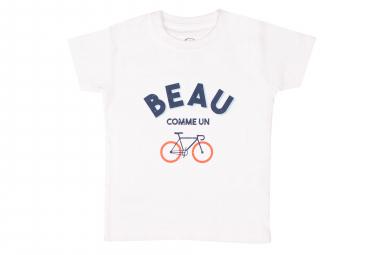 T-Shirt Marcel Pignon Enfant Beau Velo Blanc