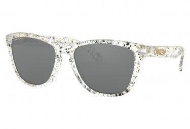 Oakley Sunglasses Frogskins Metallic Splatter Collection / Splatter Clear / Prizm Black / Ref. OO9013-G655