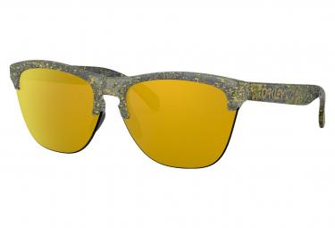 Oakley Sunglasses Frogskins Lite Metallic Splatter Collection / Splatter Crystal Black / 24k Iridium Polarized / OO9374-3063