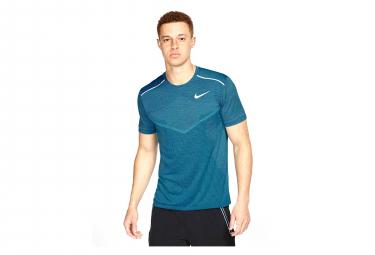 Maillot Manches Courtes Nike TechKnit Cool Ultra Bleu Homme