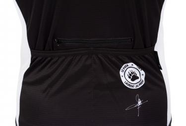 LeBram Limited Edition #1 Laurent Jalabert - Le Panda x 138 Short Sleeve Jersey White Brown Black Adjusted Fit (2 Pockets + Zip)