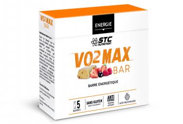Barre Énergétique STC Nutrition - VO2 Max Bar - 5 barres de 45 g - Fruits Rouges
