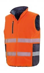 Result Gilet sans manches matelassé réversible - R332X - orange fluo