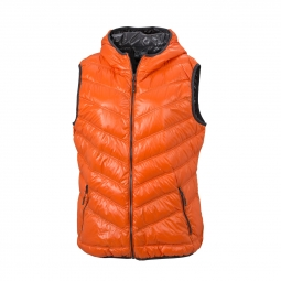 James et Nicholson Bodywarmer duvet doudoune sans manches FEMME - JN1061 - orange