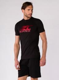 T-shirt Training BodyCross Bruno2 Noir/rouge