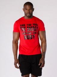 T-shirt BodyCross casual Omaya Rouge
