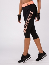 Legging BodyCross 3/4 Running Paula Noir/Corail
