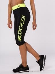 Legging BodyCross 3/4 Running Paula Noir/Jaune