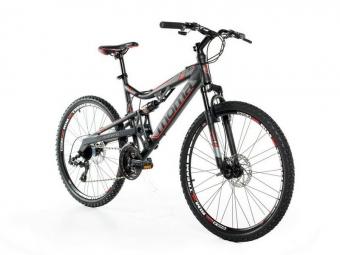 Vtt tout suspendu moma bikes eqx 26 shimano 24v noir m 155 169 cm