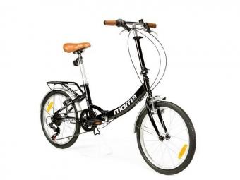 Vélo Pliant Moma Bikes First Class Panaché 6V Noir