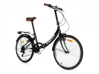 Velo pliant moma bikes top class 24 shimano 6v noir unique 165 185 cm