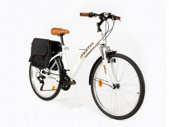 Vtc moma bikes hybrid 26 shimano 18v blanc unique 165 185 cm