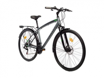Vtc moma bikes trekking pro 28 shimano 21v gris m l 165 179 cm