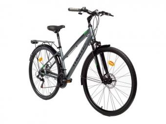 Vtc femme moma bikes trekking pro 28 shimano 21v gris unique 155 175 cm