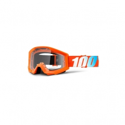 Masque vtt 100 strata orange ecran clair