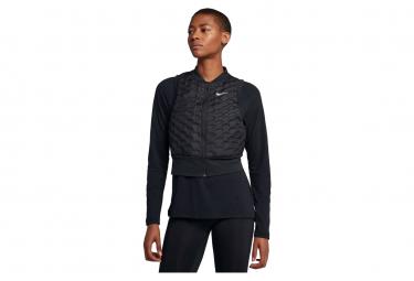 Nike AeroLoft Women's Thermal Zip Without Sleeves Jacket Black
