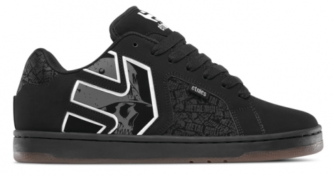 Chaussures de skate etnies metal mulisha fader 2 noir gris blanc 41 1 2