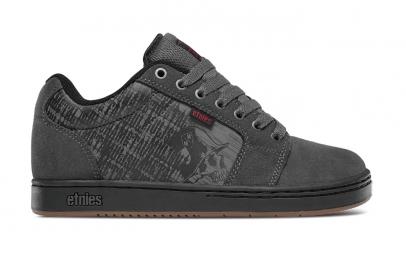 Chaussures de skate etnies metal mulisha barge xl gris noir rouge 39