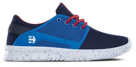 Chaussures de skate etnies enfant scout bleu fonce bleu blanc 34