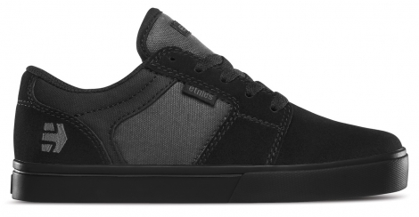 Chaussures de Skate ETNIES Enfant BARGE LS Noir Noir Gris