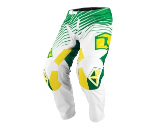 Pantalon one industries mx dh bmx atom lines 14 1 vert jaune 38
