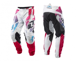 Pantalon one industries mx dh bmx atom vented shred blanc multicolor 28