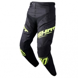 Pantalon bmx shot rogue kid black neon yellow 10 11 ans