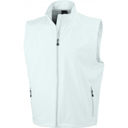 James et nicholson gilet sans manches softshell coupe vent impermeable jn1022 blanc