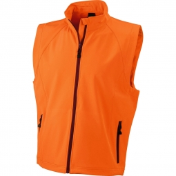 James et nicholson gilet sans manches softshell coupe vent impermeable jn1022 orange