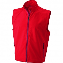 James et nicholson gilet sans manches softshell coupe vent impermeable jn1022 rouge