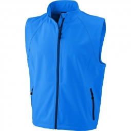 James et nicholson gilet sans manches softshell coupe vent impermeable jn1022 bleu a