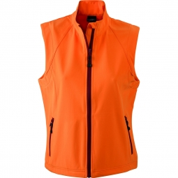 James et nicholson gilet sans manches softshell coupe vent impermeable jn1023 orange