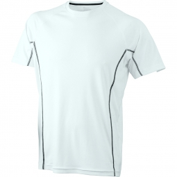 James et nicholson t shirt respirant running jn421 blanc black homme course a pied a