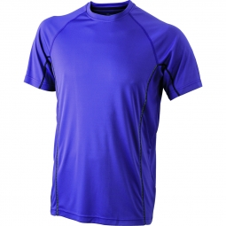 James et nicholson t shirt respirant running jn421 violet homme course a pied anti b