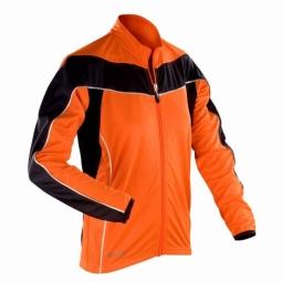 Spiro maillot manches longues femme veste cycliste s255f orange xs