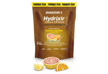 Boisson Énergétique Overstims Hydrixir Longue Distance Cocktail d'Agrumes 3 kg