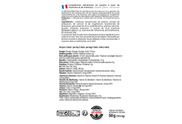 Boisson Énergétique Overstims Électrolytes (Zéro Calorie) 10 Sachets de 8 g