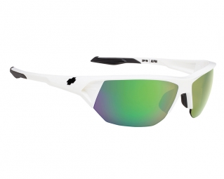 Lunettes solaires Spy ALPHA WHITE - BRONZE w/ GREEN SPECTRA