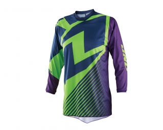 Maillot one industries kid mtb bmx mx atom lux 14 1 manches longues vert violet xl