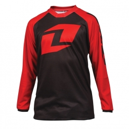 Maillot one industries kids atom raglan rouge noir m
