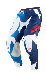 Pantalon one industries mx dh bmx gamma erupt 14 1 blanc bleu 28