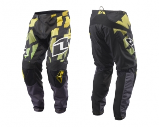 Pantalon one industries mx dh bmx atom shred noir jaune 32