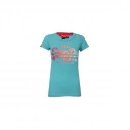 T-shirt Superdry Vintage Logo Glitter Side Fade Entry Blue Radiance Jaspe